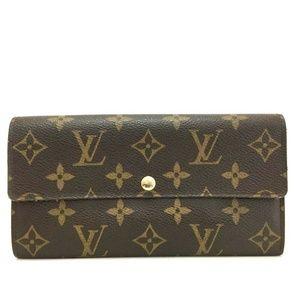 💯 Auth Louis Vuitton Sarah Portefeiulle Bifold